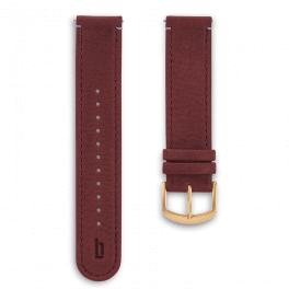 Leather strap - amarena-gold