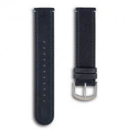 Leather strap - blue-silver