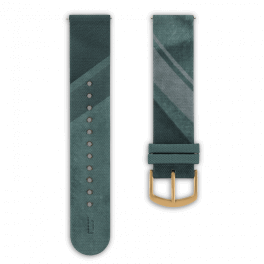 Fabric leather strap - city park-gold