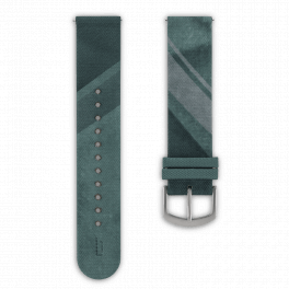 Fabric leather strap - city park-silver