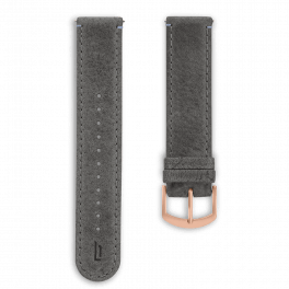 Leather strap - grey-rosegold