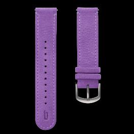 Leather strap - kakadu-silver