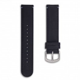 Leather strap - black-silver
