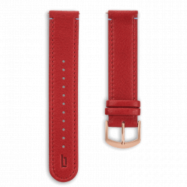 Leather strap - red-rosegold