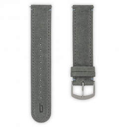 Leather strap - grey-silver