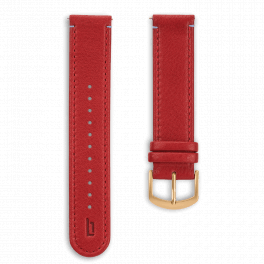 Leather strap - red-gold