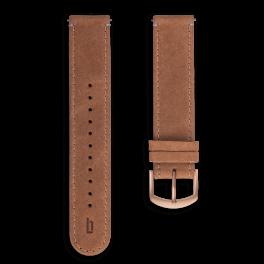Leather strap - light-brown-rosegold