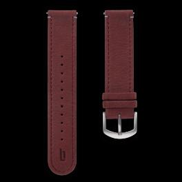 Leather strap - amarena-silver