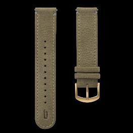 Leather strap - khaki-gold