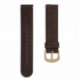 Leather strap - brown-gold