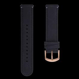 Leather strap - black-rosegold