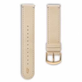 Leather strap - creme-gold