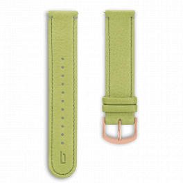 Leather strap - greenery-rosegold