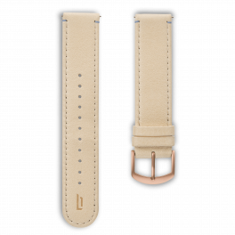 Leather strap - creme-rosegold