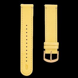 Leather strap - primrose-gold