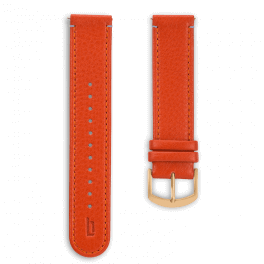 Leather strap - flame-gold