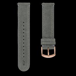 Leather strap - grey-rosegold