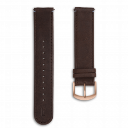 Leather strap - brown-rosegold
