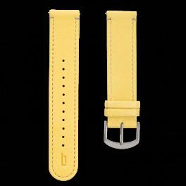 Leather strap - primrose-silver