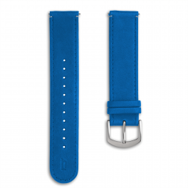 Leather strap - lapis-silver