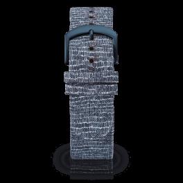 Fabric leather strap - cobblestones-blue