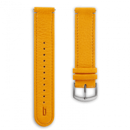 Leather strap - mango-tango-silver