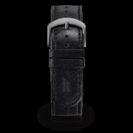 Leather strap - black-dark-silver