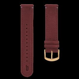 Leather strap - amarena-gold