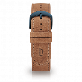 Leather strap - light-brown-blue