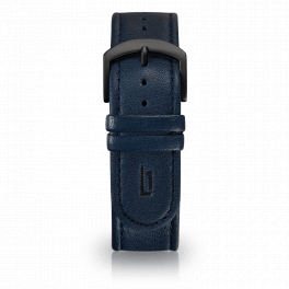 Leather strap - blue-black