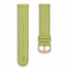 Leather strap - greenery-gold