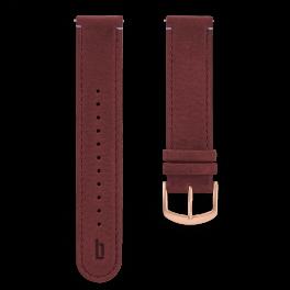 Leather strap - amarena-rosegold
