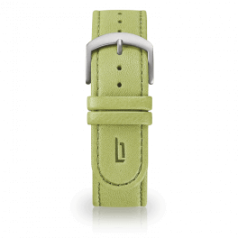 Leather strap - greenery-silver-short