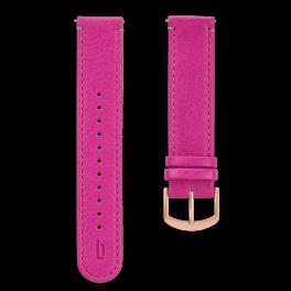 Leather strap - purple-rosegold