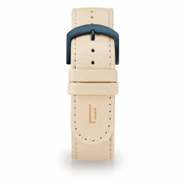 Leather strap - creme-blue