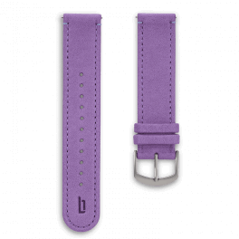 Leather strap - kakadu-silver