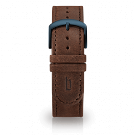 Leather strap - brown-blue