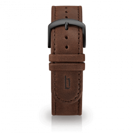 Leather strap - brown-black