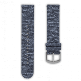 Fabric leather strap - cobblestones-silver