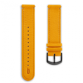 Leather strap - mango-tango-black
