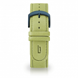 Leather strap - greenery-blue
