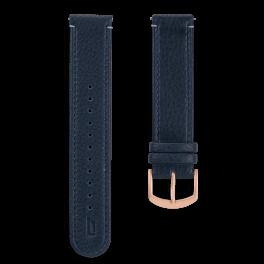 Leather strap - blue-rosegold