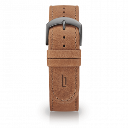 Leather strap - light-brown-dark-silver