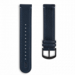 Leather strap - blue-black