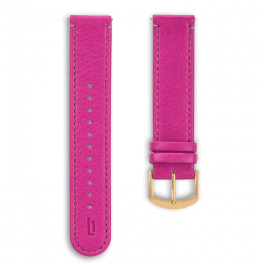 Leather strap - purple-gold