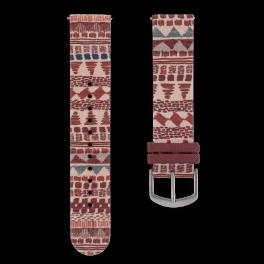 Fabric leather strap - festival-silver