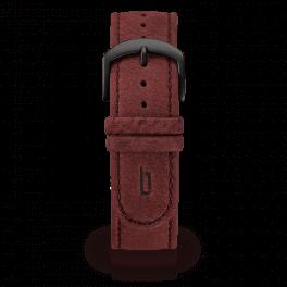 Leather strap - amarena-black