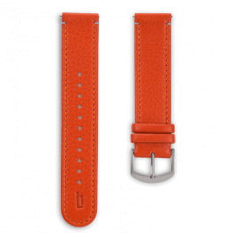 Leather strap - flame-silver