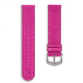 Leather strap - purple-silver