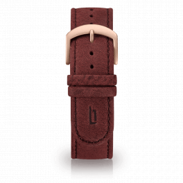 Leather strap - amarena-rosegold